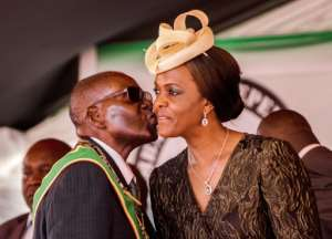 Protests erupted in 2017 after Mugabe was believed by many to be trying to position his wife Grace to succeed him.  By Jekesai NJIKIZANA (AFP/File)