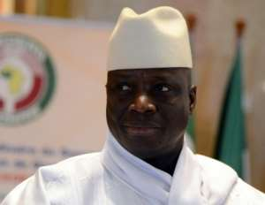 Present but absent: The figure of Jammeh, now in self-imposed exile in Equatorial Guinea, will loom over Gambia's truth and reconciliation panel.  By ISSOUF SANOGO (AFP/File)
