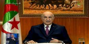 President Abdelmadjid Tebboune also called for early elections in a speech to the nation late Thursday.  By - (Algerie 3/AFP)