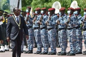President Alassane Ouattara has been accused of trampling on constitutional limits to run for a third term.  By SIA KAMBOU (POOL/AFP/File)