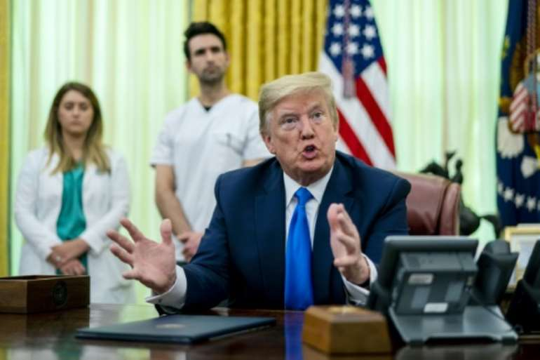 President Donald Trump said the coronavirus pandemic has been worse for the US than Pearl Harbor or 9/11.  By POOL (GETTY IMAGES/AFP)