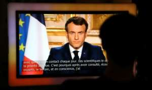 President Emmanuel Macron ordered the French to stay at home for 15 days.  By Ludovic Marin (AFP)