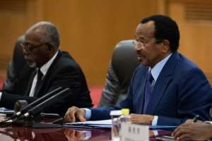 President of Cameroon Paul Biya (R) has ruled the country for 35 years.  By Roman PILIPEY (POOL/AFP/File)