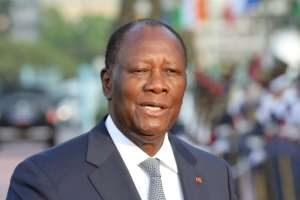 President Ouattara says a 2016 revision of the constitution reset the term limit.  By Ludovic MARIN (AFP/File)