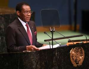 President Teodoro Obiang Nguema has been in power since 1979.  By Don EMMERT (AFP/File)