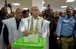 Presidential candidate Mohamed Ould Ghazouani declared himself the winner in the early hours of Sunday.  By SIA KAMBOU (AFP)