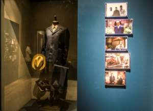 Pride of place: the author's hat, suit and shoes in the Naguib Mahfouz museum.  By Khaled DESOUKI (AFP)