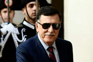 Prime Minister of the Government of National Accord of Libya Fayez al-Sarraj (pictured May 7, 2019) accused Paris of supporting Haftar and tacitly backing his assault on Tripoli.  By Filippo MONTEFORTE (AFP/File)
