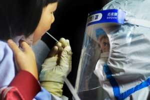 Qingdao in China is undergoing an ambitious programme of mass testing.  By STR, STR (AFP/File)