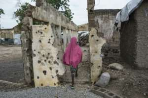 Rann, in Nigeria's northern Borno state, has been repeatedly attacked by Boko Haram militants.  By STEFAN HEUNIS (AFP)