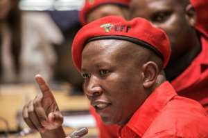 Radical South African opposition leader Julius Malema launched Sunday his campaign to be elected president in 2019.  By GIANLUIGI GUERCIA (AFP/File)