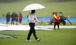 Rain washed out the last day's play of New Zealand's final Test against South Africa, denying them a series-levelling win, in Hamilton, on March 29, 2017