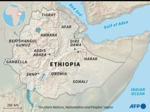 Regions of Ethiopia.  By Simon MALFATTO (AFP)