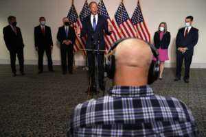 Republican senators hold a press conference in Washington on September 15, 2020.  By CHIP SOMODEVILLA (GETTY IMAGES NORTH AMERICA/AFP/File)
