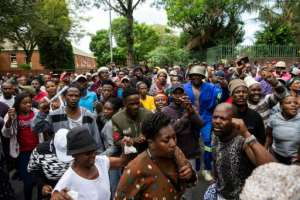 Residents of Alexandra township are angry over poor living conditions. By WIKUS DE WET (AFP/File)