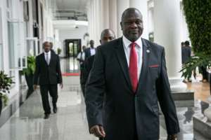 Riek Machar lives in exile in Khartoum and cannot travel freely in the region.  By Michael O'HAGAN (AFP)