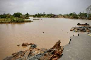 Roads linking Beira to the outside world have been been swamped or destroyed. By ADRIEN BARBIER (AFP)
