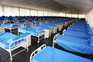 Rows of beds inside the coronavirus isolation centre at the Sani Abacha stadium in Kano.  By AMINU ABUBAKAR (AFP)