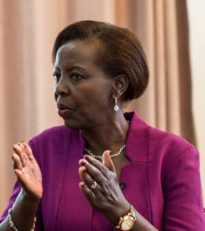 Rwandan Foreign Minister Louise Mushikiwabo is bidding to be next secretary-general of La Francophonie, the group of French-speaking nations.  By JACQUES NKINZINGABO (AFP)