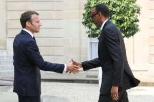 Rwandan President Paul Kagame (R) broke off ties with France between 2006 and 2009 but relations have improved over the past decade.  By ludovic MARIN (AFP)