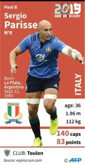 Profile of Italian No.8, Sergio Parisse..  By Laurence SAUBADU (AFP)