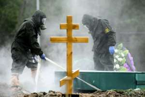 Russia has seen a spike of coronavirus cases as other European states ease their lockdowns.  By Kirill KUDRYAVTSEV (AFP)