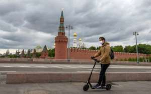 Russia offered a glimpse of hope as it reported that growth in new cases had been halted.  By Yuri KADOBNOV (AFP)