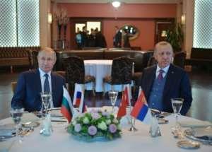 Russian President Vladimir Putin and Turkish President Recep Tayyip Erdogan met last week in Istanbul.  By Alexey DRUZHININ (SPUTNIK/AFP/File)