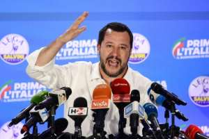 Salvini hardened his anti-immigration policies during his 14 months as interior minister.  By Miguel MEDINA (AFP/File)