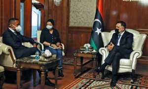 Sarraj also met with Italian Foreign Minister Luigi Di Maio.  By - (AFP)