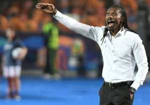 Senegal coach Aliou Cisse barks instructions during the 2019 Africa Cup of Nations final against winners Algeria in Cairo.  By Khaled DESOUKI (AFP/File)