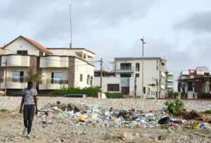 Senegal has magnificent beaches, but plastic rubbish is a chronic problem.  By SEYLLOU (AFP)