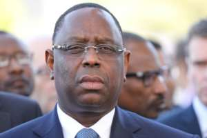 Senegalese President Macky Sall says he's hoping for a first-round win in next month's elections.  By Ludovic MARIN (POOL/AFP)