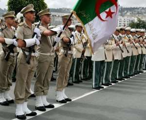 An Algerian guard of honour is pictured in Algiers in 2009.  By Fayez Nureldine (AFP/File)