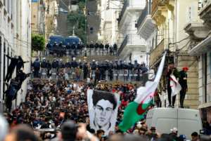Security forces were deployed in Algiers, as thousands of protesters marched toward the central Grand Post Office.  By - (AFP)