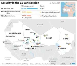 UN, French and African forces in the G5 Sahel region. By (AFP)
