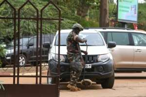 Security in Niamey was tight for the summit.  By ISSOUF SANOGO (AFP)
