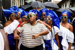 Seen at a video shoot in Lagos, Teni, 26, eschews typical pressures in the entertainment industry to be modelesque -- and she has some cutting views on self-image and the role of women in a country where they are