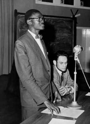 Seen here in 1960, Patrice Lumumba had two and half months as prime minister before being ousted and executed in January 1961.  By - (AFP/File)
