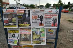 Shock: The headlines of Ivorian newspapers on Thursday.  By Issouf SANOGO (AFP)