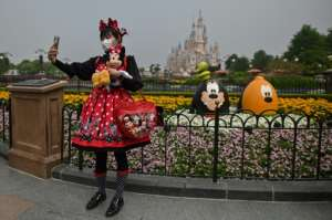 Shanghai Disnelyland opened its doors for the first time in three months.  By Hector RETAMAL (AFP)