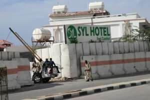 Shebab militants attacked the SYL hotel in Mogadishu on December 11, 2019, killing five people including three civilians.  By Abdirazak Hussein FARAH (AFP/File)