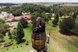 Since November 14, home has been a 500-litre wine barrel -- a tight squeeze for Kruger, who nonetheless plans to sit tight until at least Monday -- though organiser Fiona Jones say he plans to stay