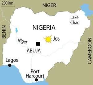 Explosives were planted in the Tudun Wada area of Jos, police said.  By  (AFP/Graphics)