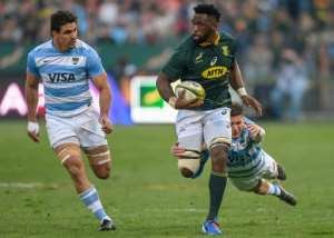 Siya Kolisi is the first black player to captain South Africa at a World Cup.  By Christiaan Kotze (AFP/File)