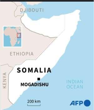 Map of Somalia locating Mogadishu.  By  (AFP)