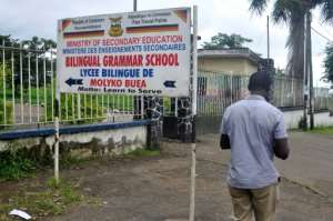 Some bilingual schools in the Anglophone region have been closed by a shutdown protest by separatist insurgents.  By Rennier KAZE (AFP)