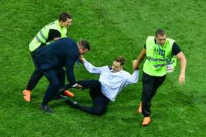 Some people close to Verzilov think he might have been poisoned for taking part in a pitch invasion at the World Cup final in Moscow.  By Mladen ANTONOV (AFP/File)