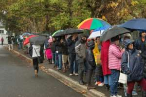 Some 26.8 million South Africans are eligible to cast their ballots Wednesday. By RODGER BOSCH (AFP)