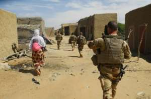 Soldiers of France's counter-terror force Barkhane in Mali.  By Daphné BENOIT (AFP/File)